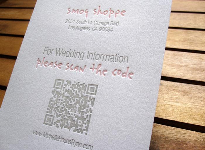 B Wedding Invitations Coupons: Improving Wedding Invitations With QR Codes