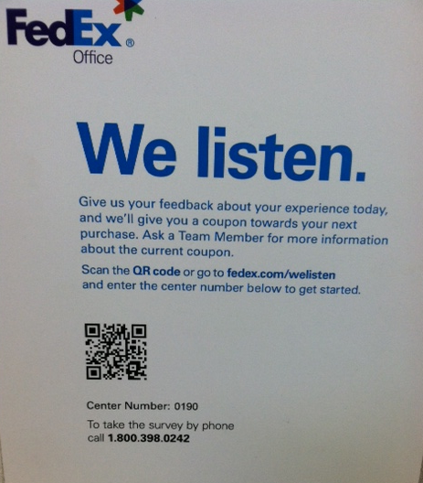 Fedex office incentives and qr codes qfuse for Fedex printing coupon codes