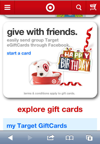 Target Uses QR Codes To Drive Gift Card Sales